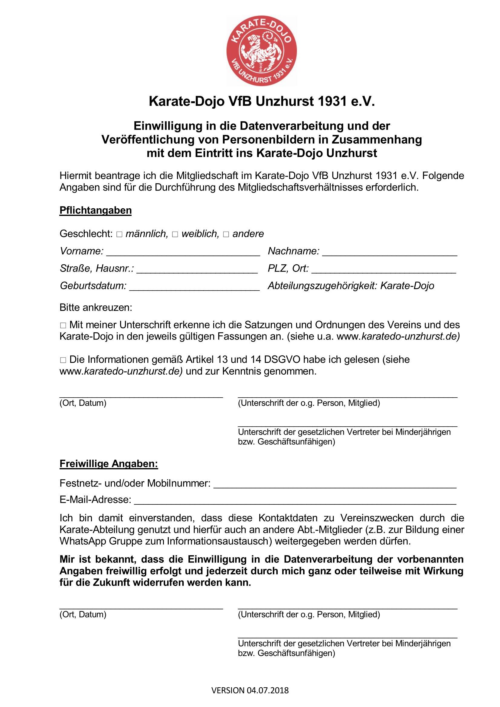 Einwilligung Datenverarbeitung Seite 1